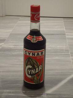 Antigua botella de licor Cynar - NUEVA SIN USO A ESTRENAR