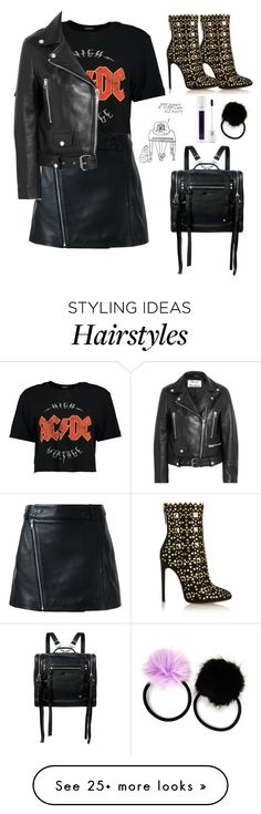 """""""biker chic"""" by nikkischeper on Polyvore featuring Carole, Alaïa, McQ by Alexander McQueen, Boohoo, Dion Lee, Acne Studios and Forever 21"""