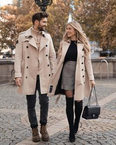 Photo by American Style on February 02, 2021. May be an image of 2 people, people standing, overcoat, footwear and outdoors. Matching Couple Outfits, Matching Couples, Couples African Outfits, Cute Workout Outfits, Girl Inspiration, Mens Fashion, Fashion Outfits, Fashion Trends, Queen