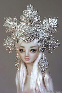 Головные уборы необыкновенных кукол Марины Бычковой / Шарнирные куклы / Бэйбики. Куклы фото. Одежда для кукол