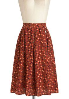 Hip in Dots Skirt. I think I'm in love with this whole ModCloth thing....