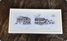 House Portraits - love this idea from Amanda @ Dixie Delights blog