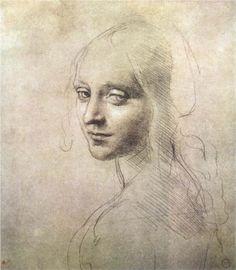 """Head of a Girl""  by Leonardo Da Vinci"