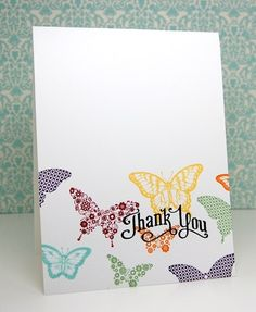 Love love love! Clean & Simple card using Stampin' Up!'s Papillon Potpourri