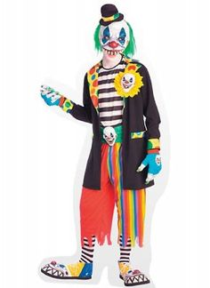 Gekleurd 'Crimi clown' kostuum