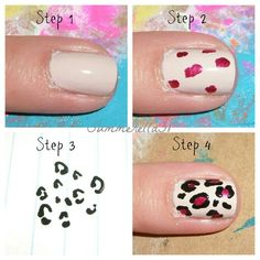 Easy way to do a cheetah print! Practice on paper FIRST!!