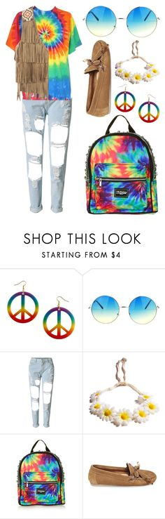 """""""Hippie Costume"""" by meaganmuffins on Polyvore featuring Topshop, Steve Madden, Chicnova Fashion, halloweencostume and DIYHalloween"""