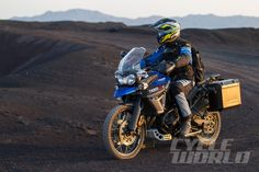Blake Conner and the 2015 Triumph Tiger 800 XCx.