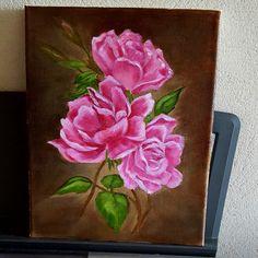 Roses. Oil