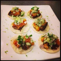 Pork belly tacos