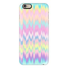 iPhone 6 Plus/6/5/5s/5c Case - Pastel Candy Tie Dye Waves (€35) ❤ liked on Polyvore featuring accessories, tech accessories, phone cases, phone, iphone, electronics, iphone case, iphone cases, tie dye iphone case and iphone cover case
