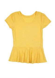 Ana Peplum Short-Sleeve -delia's