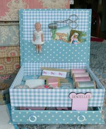 sewing box so cute...great idea for girls first sewing kit.