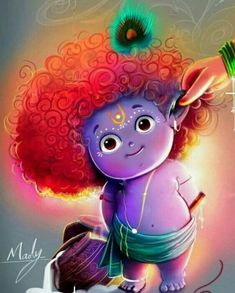 krishna king of mischief Lord Krishna Wallpapers, Radha Krishna Wallpaper, Lord Krishna Images, Radha Krishna Pictures, Little Krishna, Cute Krishna, Lord Shiva Painting, Krishna Painting, Lord Ganesha Paintings