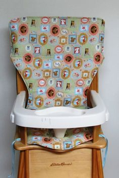 eddie bauer, baby accessory, wooden highchair pad, feeding chair pad, jenny lind, baby and child care, replacement cover, sweet baby love by SewingsillySister on Etsy