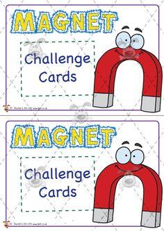 Teacher's Pet Activities & Games » Magnet Challenge Cards » EYFS, KS1, KS2 classroom activity and game resources