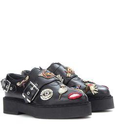 mytheresa.com - Embellished platform monk shoes - Luxury Fashion for Women / Designer clothing, shoes, bags