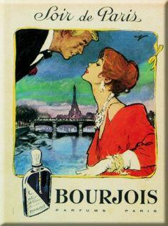 PLAQUE 40X30CM PUB PARFUM BOURJOIS SOIR DE PARIS 2: Amazon.fr: Cuisine & Maison