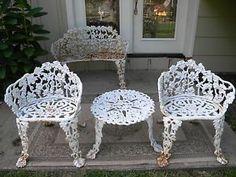 pair vintage antarenni wrought iron dining chair salterini era