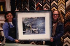 A framing project we did for Heather Bambrick of Toronto's Jazz FM! #dimensionscustomframingtoronto