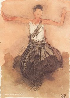 Cambodian Dancer by Auguste Rodin. Massive range of art prints, posters & canvases. Auguste Rodin, Abstract Sculpture, Sculpture Art, Metal Sculptures, Bronze Sculpture, Rodin Drawing, Sketches Of People, Ink In Water, Artist Sketchbook