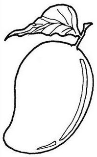 CLIP ART :: LINE DRAWING :: KINDERGARTEN WORKSHEET GUIDE Fruit coloring pages Coloring pages Preschool coloring pages