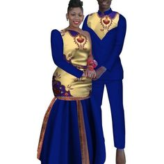 African Couples Sets Man and Women Matching Dashiki Print Couples African Outfits, African Dresses Men, African Attire For Men, African Shirts, Couple Outfits, African Wear, African Inspired Clothing, African Clothing For Men, African Print Fashion