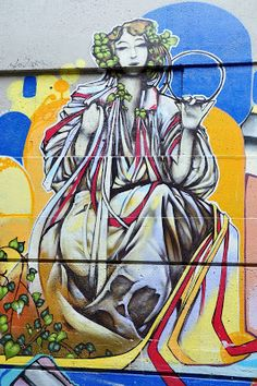 The Goddess Street Art in Vancouver, Canada