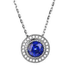 Giulia pendentif Saphir et Diamant