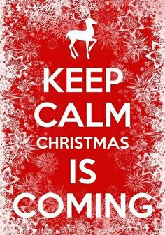 I'm always calm with Christmas advancing, it is my favourite time of year, can never understand people getting stressed. Chill out!!!