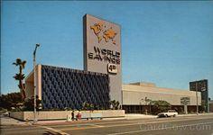 World Savings and Loan Association Lynwood California Lynwood California, Googie, Cities, Chrome, Mid Century, Memories, Spaces, History, American