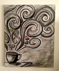 coffee canvas painting - Google Search