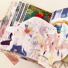 Collagejournal - Artjournal page process Cinderella, Scrapbook, Blue Eyes, Mirrors, Tutorials, Scrapbooking, Guest Books, Scrapbooks