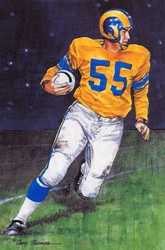Fußball-Fanshop Los Angeles Rams Merlin Olsen Trikot Revers Pin-Classic Collectable-Best Seller