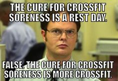 Crossfit humor. 20 rounds 20 squats and 200 meter run. Pain.