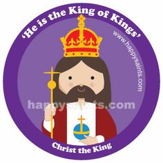 """He is the King of Kings ~ Christ the King """"To those who overcome, I will give the right to sit with Me on My Throne, just as I overcame and sat down with My Father on His Throne."""" Revelation 3:21 Happy Saints"""