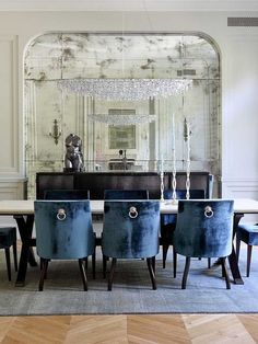 Top Navy Blue Dining Room Design 2014