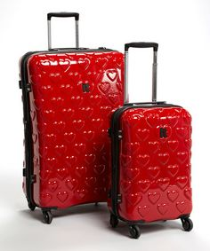 8ed859db57 Look at this  zulilyfind! Heart Expandable Two-Piece Luggage Set   zulilyfinds Luggage