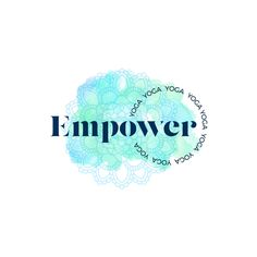 Empower Yoga logo logo and branding design