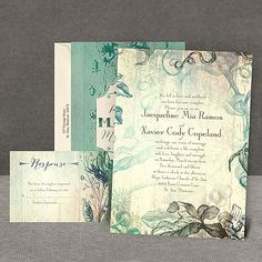 Vintage Wedding Invitations | Antique Wedding Invitations at Invitations By Dawn