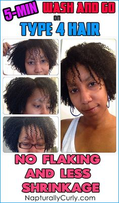 Max Hydration Method Wash and Go on Type 4 Hair