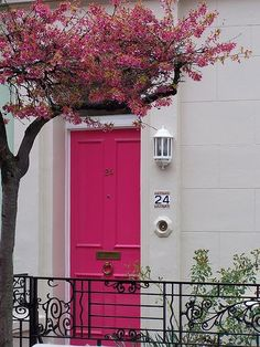 Bold and rightfully so. I wish a pink door would fly with my hubby... *sigh*