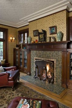 9d6a6b0c6f4 Moravian tiles and Pugin-designed wallpaper in a 1908 Tudor. Photo  William  Wright