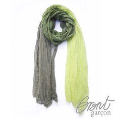 Grant Garcon udsalg børnetøj Halstørklæde til drenge i grønne nuancer tilbud børnetøj
