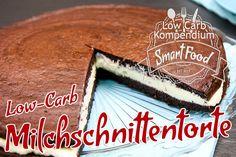 Diese süße Low-Carb Torte bringt die klassische Milchschnitte in ein ganz neues Format. Ein cremiger Snack, der sich hervorragend für zwischendurch eignet.