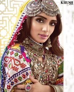 Afghan Bridal Look with the talented . Pakistani Dress Design, Pakistani Bridal, Afghanistan Culture, Afghani Clothes, Bridal Mehndi Dresses, Afghan Girl, Rajputi Dress, Islamic Girl, Cute Fashion