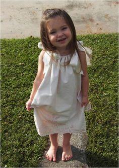Day 126:  Plastic Letters Dress    Super cute pillow case dress!