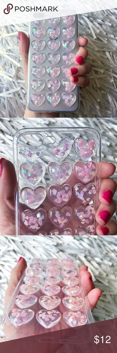 NEW iPhone 7/8 Plus 3D Glitter Soft TPU Case ▪️Fits iPhone 7 or 8 Plus Models     ▪️High Quality Soft TPU - Thick & Shock-Resistant     ▪️Same or Next Business Day Shipping !     **Phone Not Included** Accessories Phone Cases