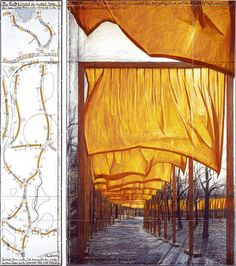 Christo and Jeanne-Claude: The Gates Project, Central Park, New York City. The project ran from February 12 – February Large Art, Jeanne Claude, Christo And Jeanne Claude, Public Art, Painting, Conceptual Art, Land Art, Art Fair, Environmental Sculpture