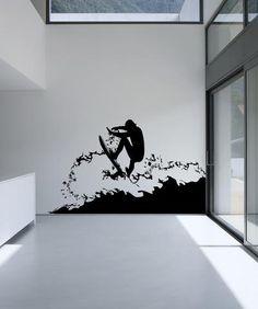 Vinyl Wall Decal Sticker Surfer #AC180 | Stickerbrand wall art decals, wall graphics and wall murals.